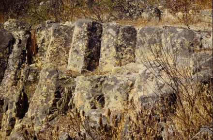 Figure 13 - Close up of columnar rhyolite (Castro Verde, Portugal).