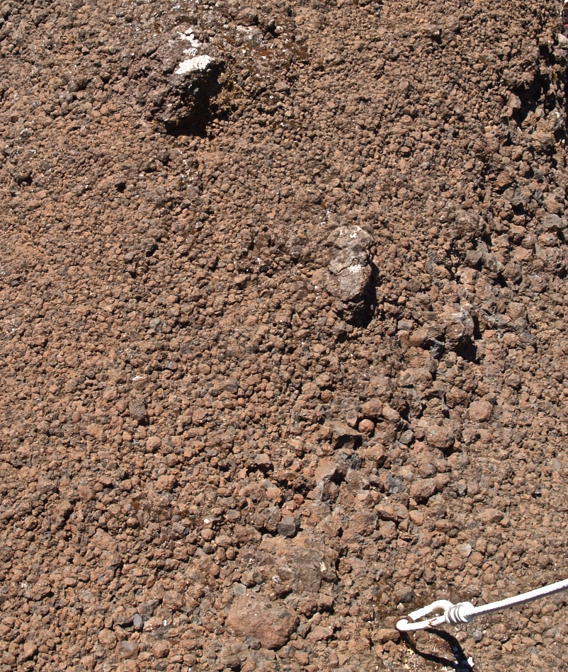 Figure 13C - Assemblage of rather coarse pyroclasts (width of picture, approximately 30 cm) (Pico do Arieiro, Madeira).