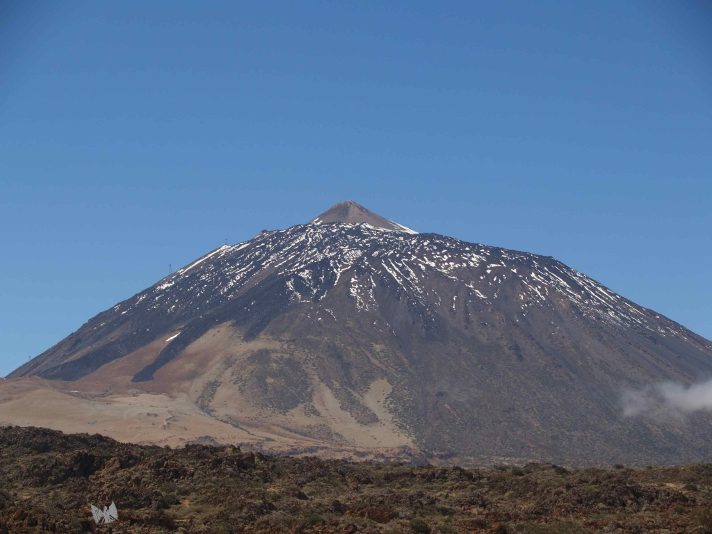 Figure 1 - The top of the Teide volcanic cone.