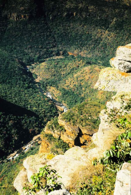 Figure 70 - Blyder River, view down the canyon (South Africa).