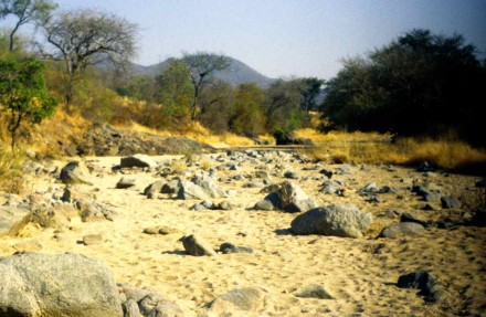 Figure 59 - Typical temporary river bed in a semiarid region (Bentiaba, Angola).