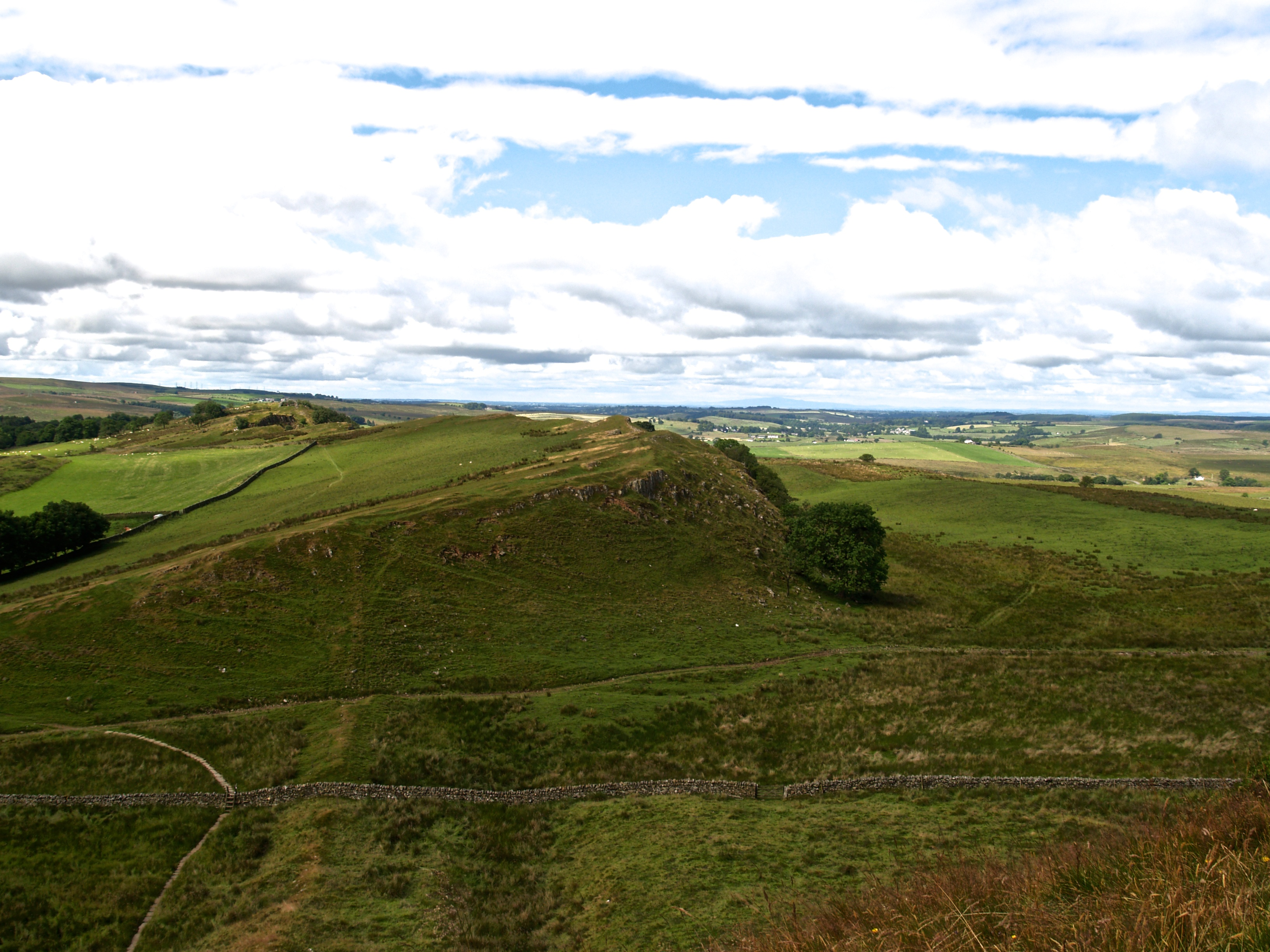 Figure 79 - Stratigraphic geomorphological control (Northumberland National Park, Great britain