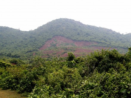 Figure 47 - Land slide on farm land caused by the monsoons (Orissa, India).