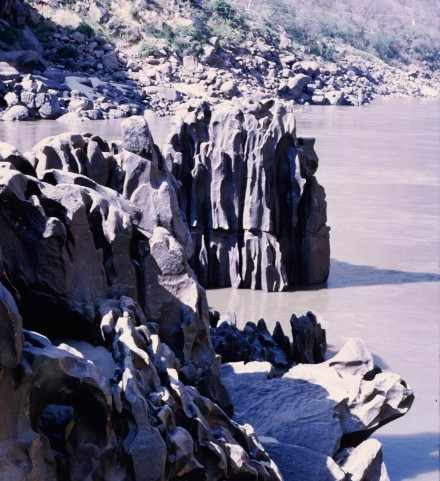 Figure 67 - Potholes in granite in the Zambezi River (Cahora Bassa Gorge Mozambique).
