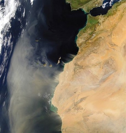 Figure 48 - Dust storm from the Sahara