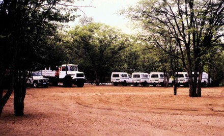 Figure 150 - Partial vehicle fleet of the opposition (Caama region, Angola).
