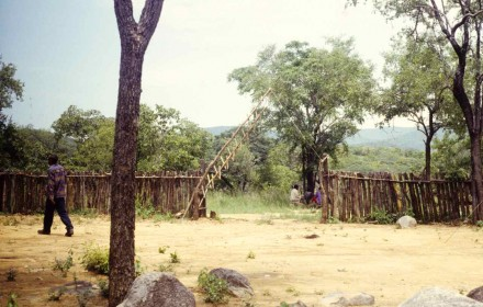 Figure 147 - The entrance to my prospecting camp (Bentiaba, Angola).