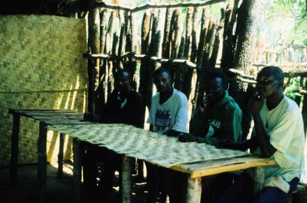 Figure 151 - The dining room of my camp (Bentiaba, Angola).