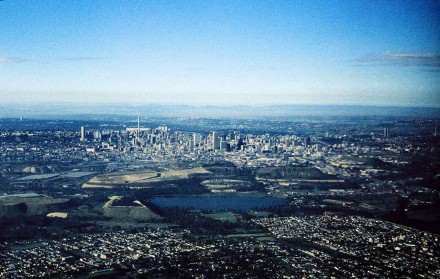 Figure 183 - Johannesburg from the air (South Africa).