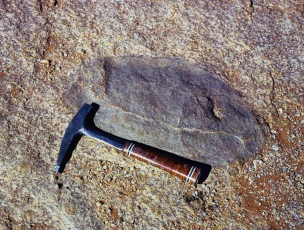 Figure 141 - Resistant remnant in gneiss (Okiep, South Africa).