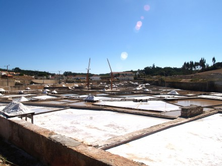 Figure 166A - Salt pans for recovering the dissolved rock salt (Rio Maior, Portugal)